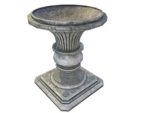 outdoor Vase Game Ready 3D model