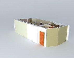 hotel room furniture 3D