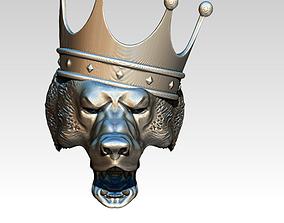 Bear king crown jewel ring 3D print model