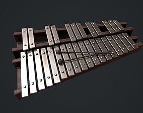 3D asset Glockenspiel - Xylophone