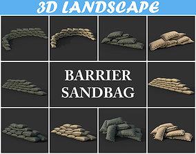 3D model Low poly Sandbag Package 200205