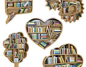 Kids bookshelf 3D model