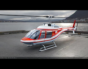 3D model Bell 206 Rescue Red
