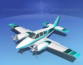 Beechcraft B55 Baron V13 3D model