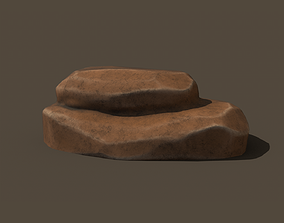 3D asset realtime Stylized rock