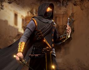 Assassin character 3D asset