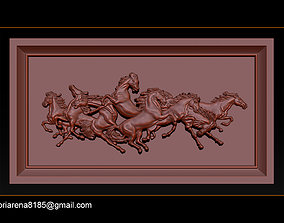 3D print model Race Horse wood carving file stl OBJ and 2