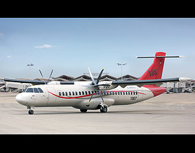 ATR 72-600 Generic Red 3D