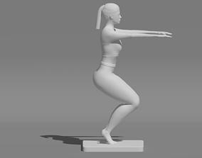 WOMAN YOGA POSE 3D print model