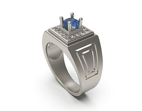 Man Signet Ring 16 3D printable model