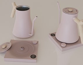 Contemporary colourful kettle2-pink 3D asset