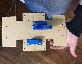 Flight yoke command system for simulator 3D print model