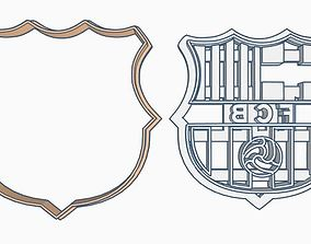 3D print model FCB Barcelona shield Cookie Cutter Set