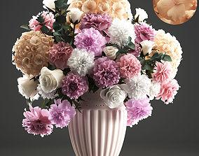 Bouquet of spring flowers 3D model