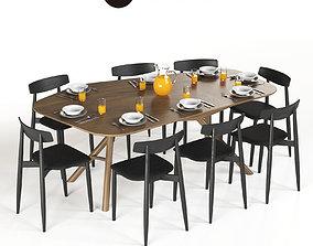 3D Table Miniforms OTTO and Chair Miniforms Claretta