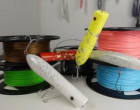 3D print model Topwater popper plug fishing lure