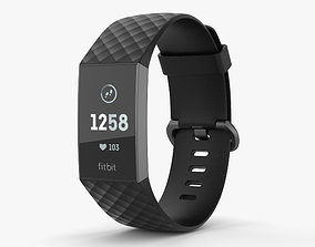 3D Fitbit Charge 3 Black