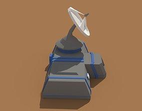 3D asset Low Poly Scifi Radar Station