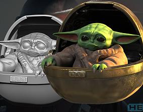 Mandalorian Baby Yoda 3D Print