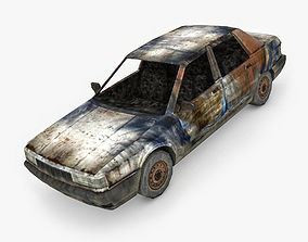 Burned Car 3D model realtime