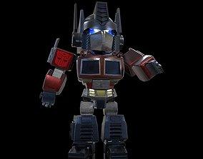 Optimus Prime 3D rigged commander