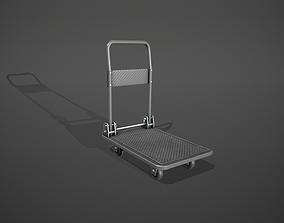 Folding Platform Truck Trolley - Grey 3D asset