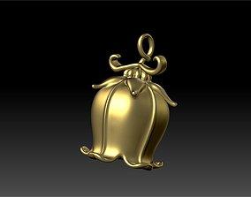 3D print model bell flower pendant