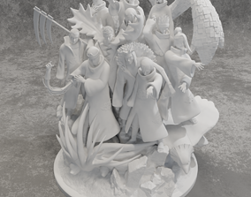 3D print model Akatsuki team