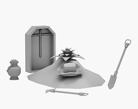 Lowpoly Grave 03 3D model