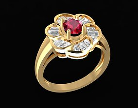 1707 Diamond ring 3D printable model