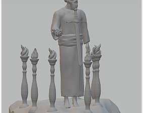 3D print model Jesus among the seven Churches