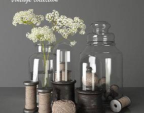 3D can Vintage collection - Decorative Set 2