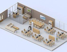 Low poly Office 3D asset