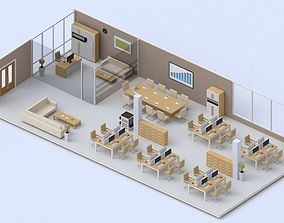 3D model low-poly Low poly Office