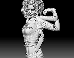 Harley Quinn STL file 3d model portrait relief for CNC 1