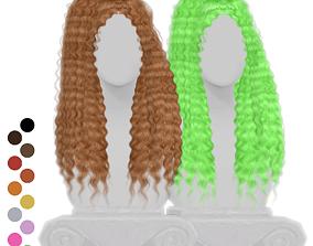 3D model Curly Ponytail Hair
