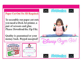 Disney Gym Girl Paper Cut Out 3D model animated