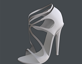 Jimmy Choo Lang patent strappy 100mm sandals 3D model