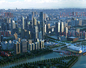 Guangzhou City in China 3D