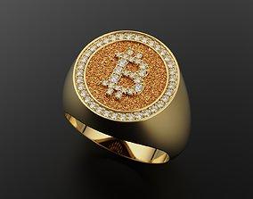 3D print model Bitcoin ring