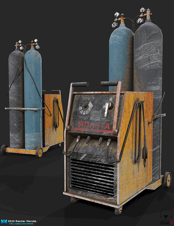 gas welding station