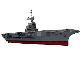 3D Charles de Gaulle Aircraft Carrier