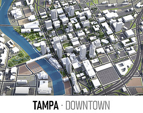 3D model Tampa - Downtown