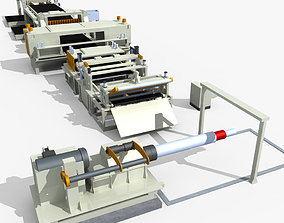 3D model Cutting line Equipment