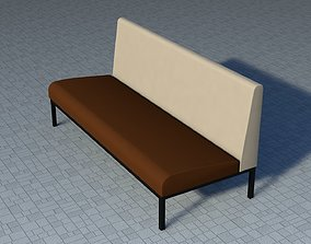 3D asset game-ready Low-Poly Sofa