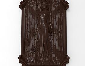 Nude girl bas relief 3D print model