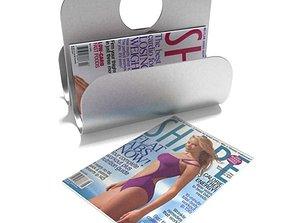 3D model Shape Magazine With Magazine Holder