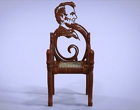 VR / AR ready Unique Chair with a Abraham Lincoln model