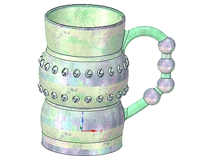 professional Coffee cup tea vessel v02 for 3d print and