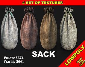 3D asset Sack bag